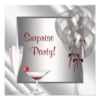 El cóctel hincha a la fiesta de cumpleaños roja de anuncios
