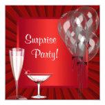 El cóctel hincha a la fiesta de cumpleaños roja de comunicado personalizado