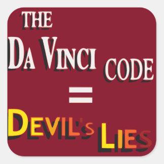 El código de da Vinci Pegatina Cuadrada