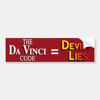 El código de da Vinci Pegatina Para Auto