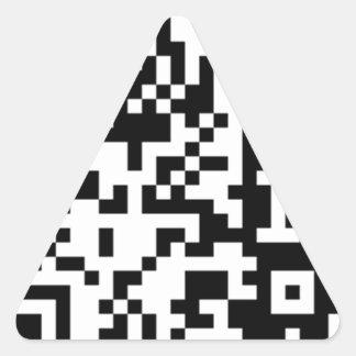 El código de QR Calcomania Triangulo