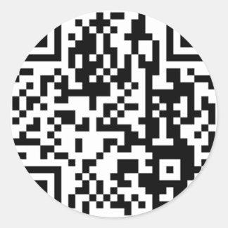 El código de QR Pegatinas Redondas