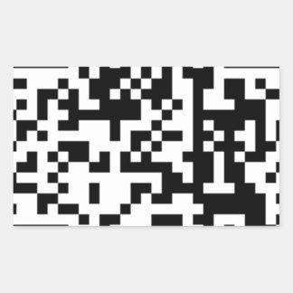 El código de QR Rectangular Pegatina