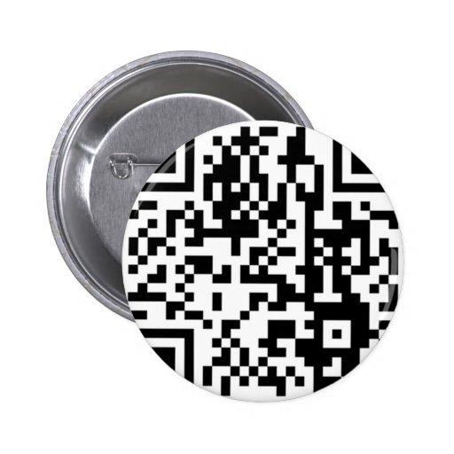 El código de QR Pin Redondo De 2 Pulgadas