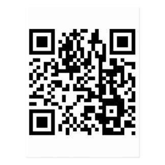 El código de QR Tarjetas Postales