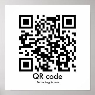 El código de QR, tecnología está aquí Póster