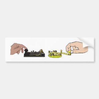 El código Morse cierra a la pegatina para el parac Pegatina Para Auto