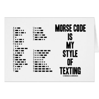 El código Morse es mi estilo del código Morse inte Tarjeta