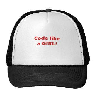 El código tiene gusto de un chica gorra