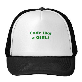 El código tiene gusto de un chica gorras
