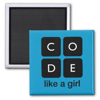 El código tiene gusto de un chica imán cuadrado