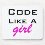 El código tiene gusto de un chica Mousepad Alfombrilla De Ratones