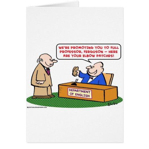 el codo remienda a catedrático de la promoción tarjetas