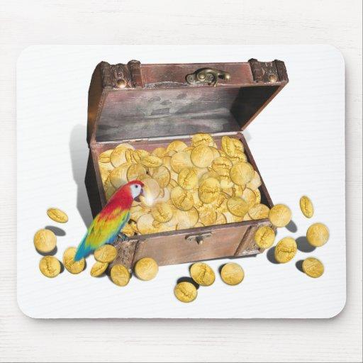 El cofre del tesoro de un pirata alfombrilla de raton