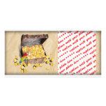 El cofre del tesoro del pirata en el papel de la a tarjetas fotográficas personalizadas