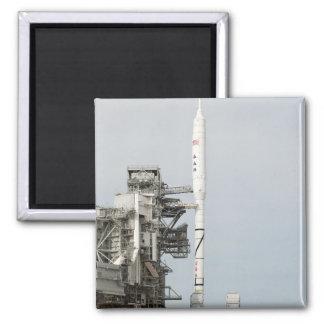 El cohete de Ares IX se ve en la plataforma de Imán Cuadrado
