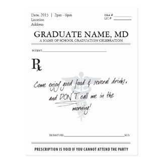 El cojín de la prescripción de la graduación del e tarjeta postal