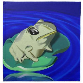 El cojín de la rana y de lirio va de fiesta las se servilletas de papel