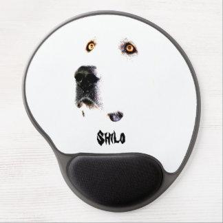 El cojín de ratón de la mirada fija de los alfombrilla de raton con gel