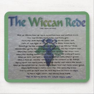 El cojín de ratón de Wiccan Rede Alfombrillas De Raton