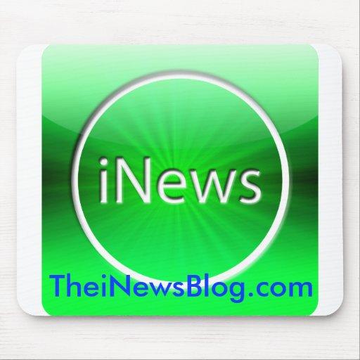 El cojín de ratón del blog de los iNews Tapete De Ratón