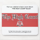 El cojín de ratón del logotipo de la tribunal supe tapete de ratón