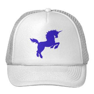 El coleccionable colorea unicornio en gorra azul