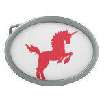 El coleccionable colorea unicornio en hebilla roja hebillas cinturon
