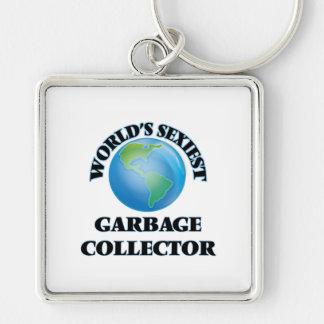 El colector de la basura más atractivo del mundo llavero personalizado
