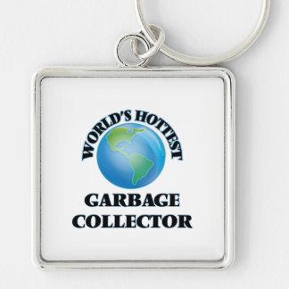 El colector de la basura más caliente del mundo llavero personalizado
