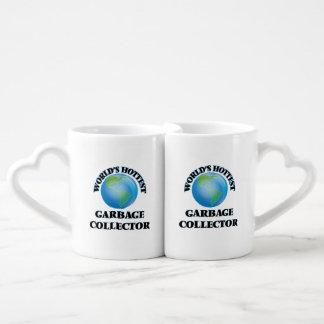 El colector de la basura más caliente del mundo tazas para parejas