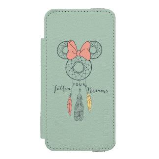 El colector ideal de Minnie Mouse el | sigue sus Funda Billetera Para iPhone 5 Watson