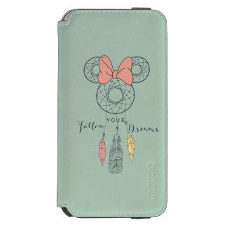 El colector ideal de Minnie Mouse el | sigue sus Funda Billetera Para iPhone 6 Watson