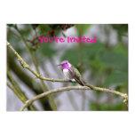 El colibrí de la costa invitación 12,7 x 17,8 cm