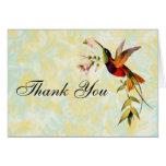 El colibrí del vintage le agradece felicitacion