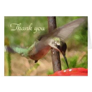 El colibrí le agradece las tarjetas de nota