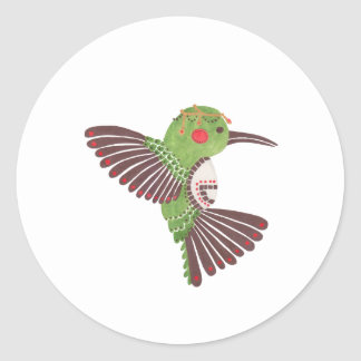 El colibrí verde pegatina redonda