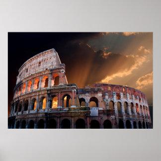 El coliseo de Roma antigua Póster