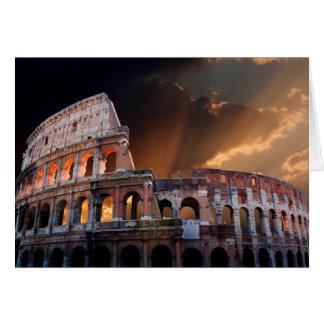 El coliseo de Roma antigua Tarjeta De Felicitación