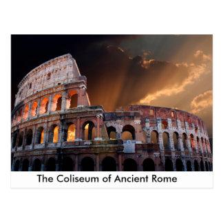 El coliseo de Roma antigua Tarjetas Postales