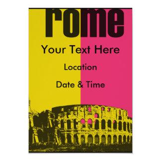 """El coliseo en Roma Invitación 5"""" X 7"""""""