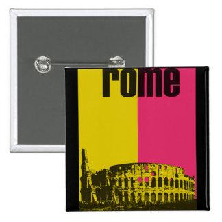El coliseo en Roma Pin Cuadrada 5 Cm