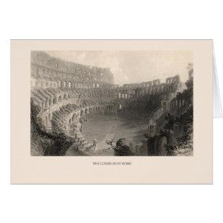 El coliseo en Roma Tarjeta De Felicitación