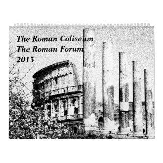 El coliseo romano, el calendario romano 2013 del f
