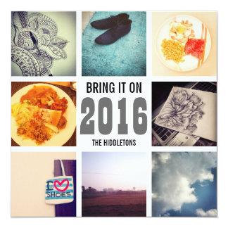 """El collage 2016 de la foto de Instagram de las Invitación 5.25"""" X 5.25"""""""