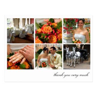 El collage blanco de la rejilla 6 memorias de las tarjeta postal