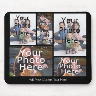 El collage de encargo Mousepad de la foto añade su Alfombrilla De Ratones