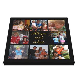"""El collage de encargo """"todo de la foto de familia impresión en lienzo"""