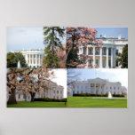 El collage de la Casa Blanca Poster