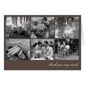 El collage de la rejilla de Brown 6 memorias de Tarjeta Pequeña